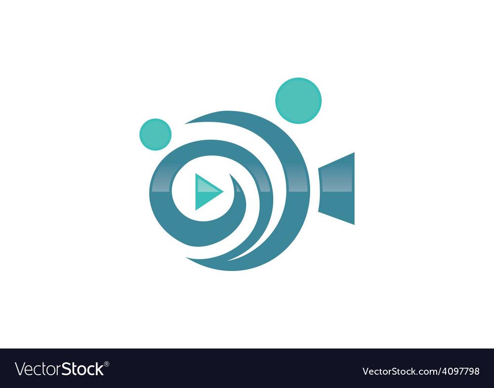 movie film play people abstract logo royalty free vector rh vectorstock com fujifilm logo vector film reel logo vector