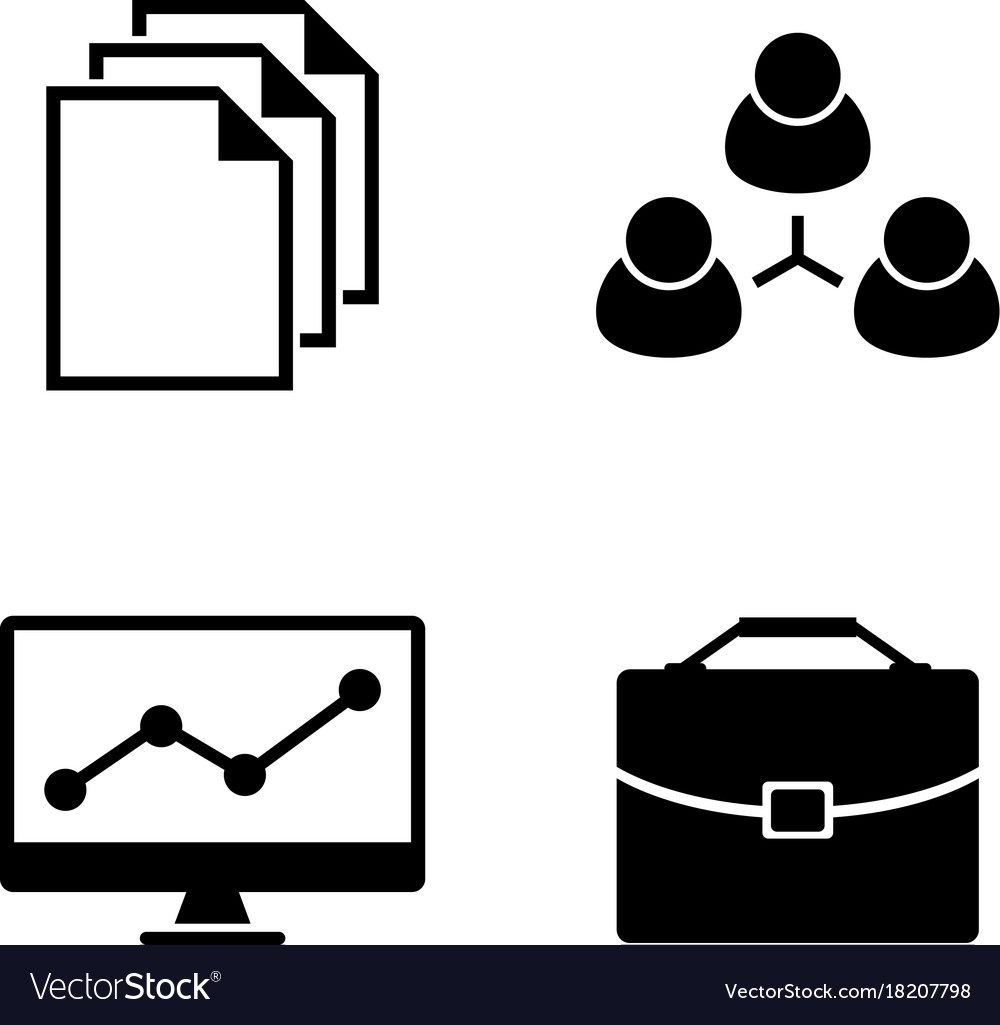 Office simple related icons