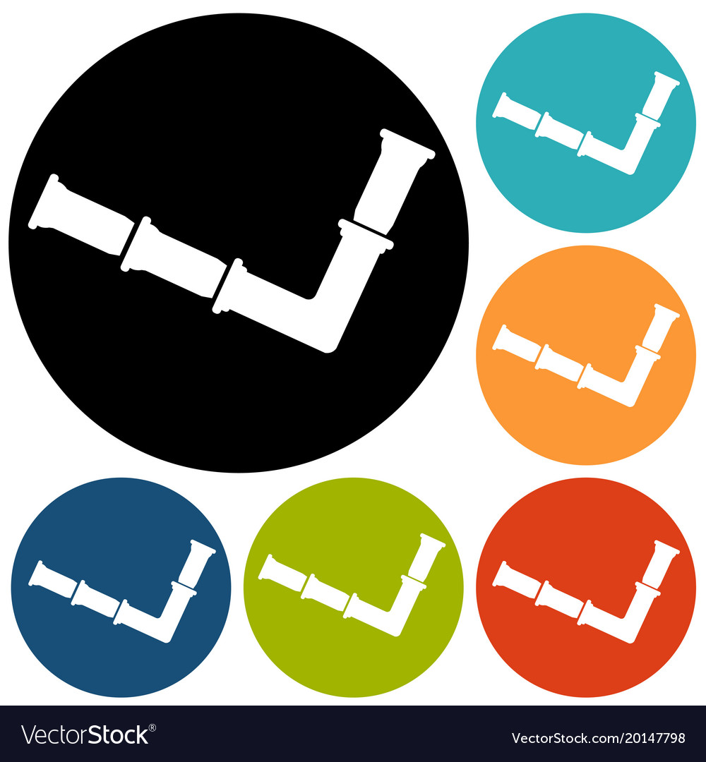 Simple Icon Connecting Pipes Valve Vector Image On Vectorstock Piping Diagram