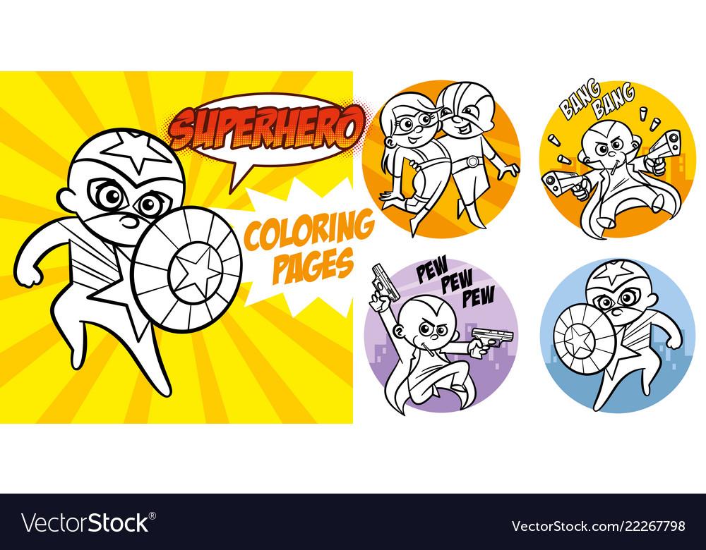 91 Superhero Coloring Book Download Free Images