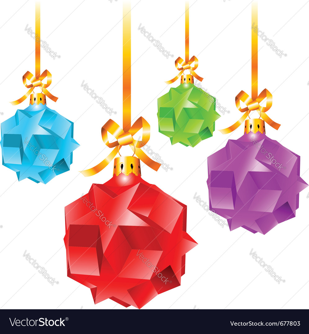 abstract colorful christmas decorations vector image - Colorful Christmas Decorations