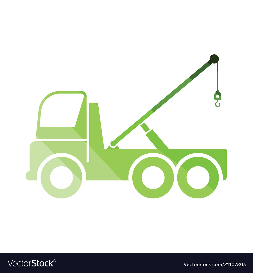 Car towing truck icon