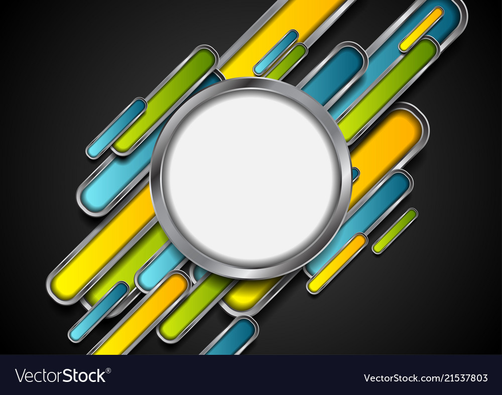 Colorful metallic technology abstract background
