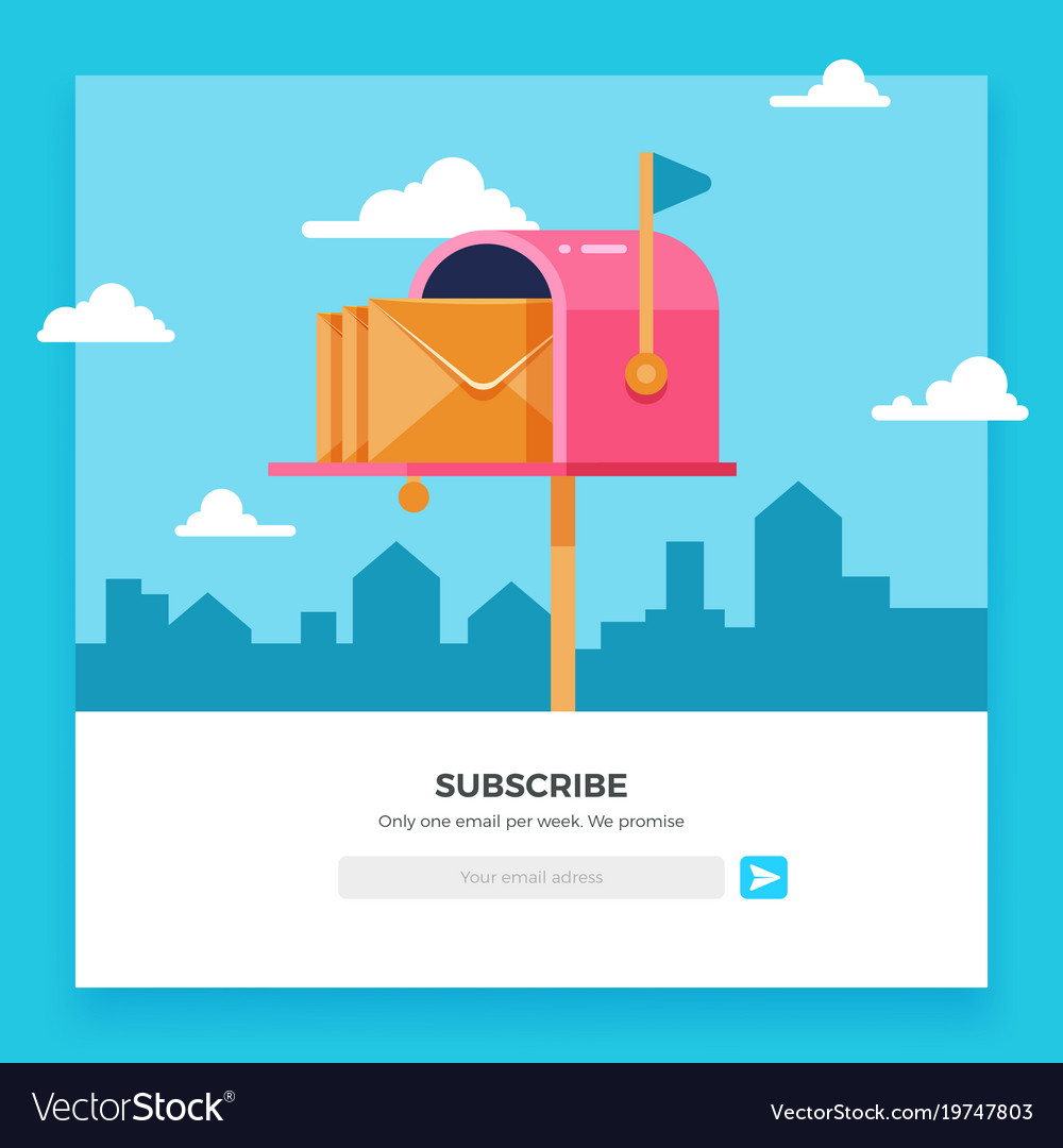 Email subscribe online newsletter template