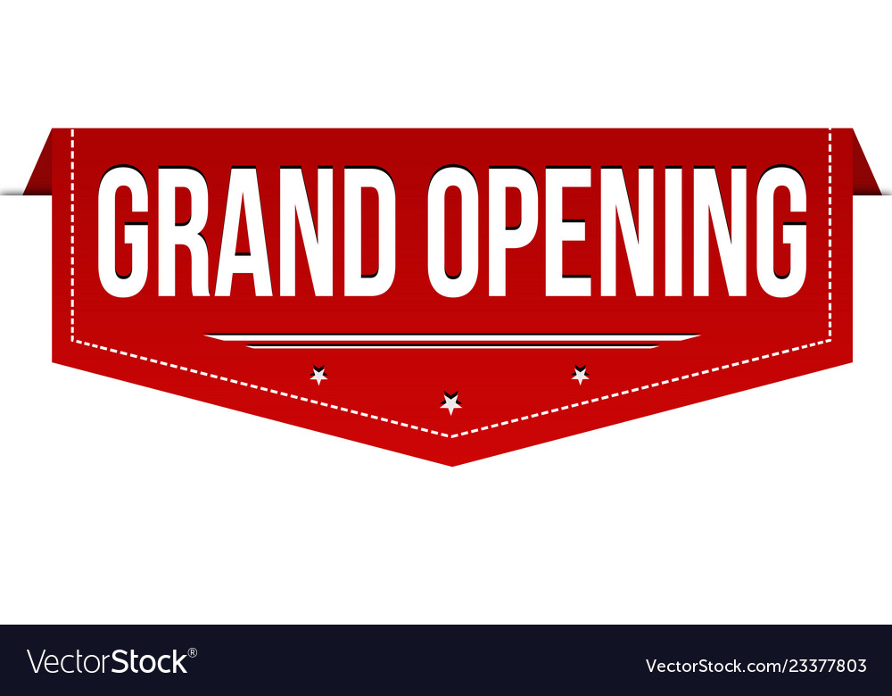Grand Opening Banner Design Royalty Free Vector Image
