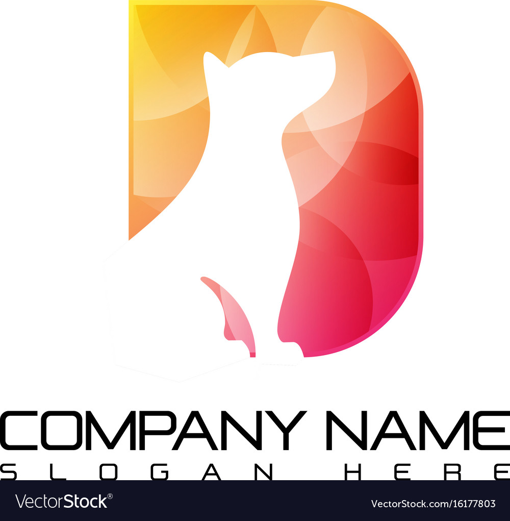 Logo fashion luxury jewelry dog abstract vector image