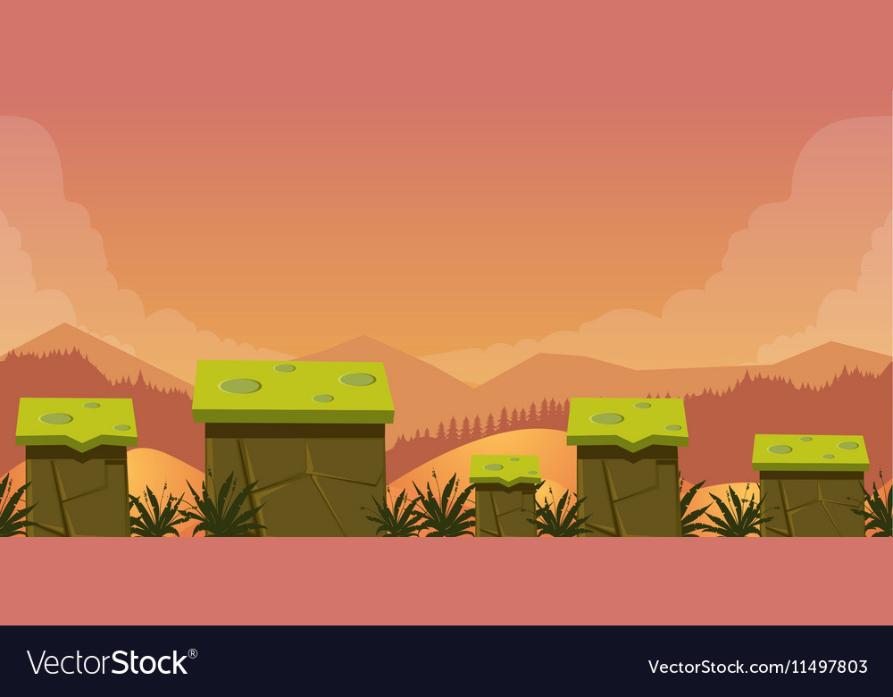 Mobile App Game Assets Background Classic vector image
