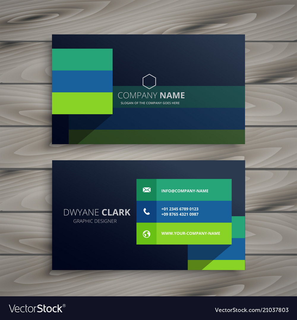 Modern dark professional business card design vector image reheart Image collections