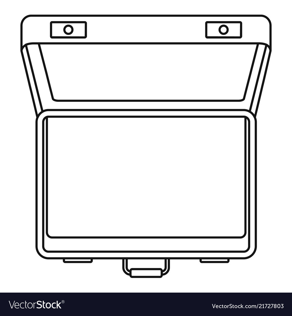 Open suitcase icon outline style
