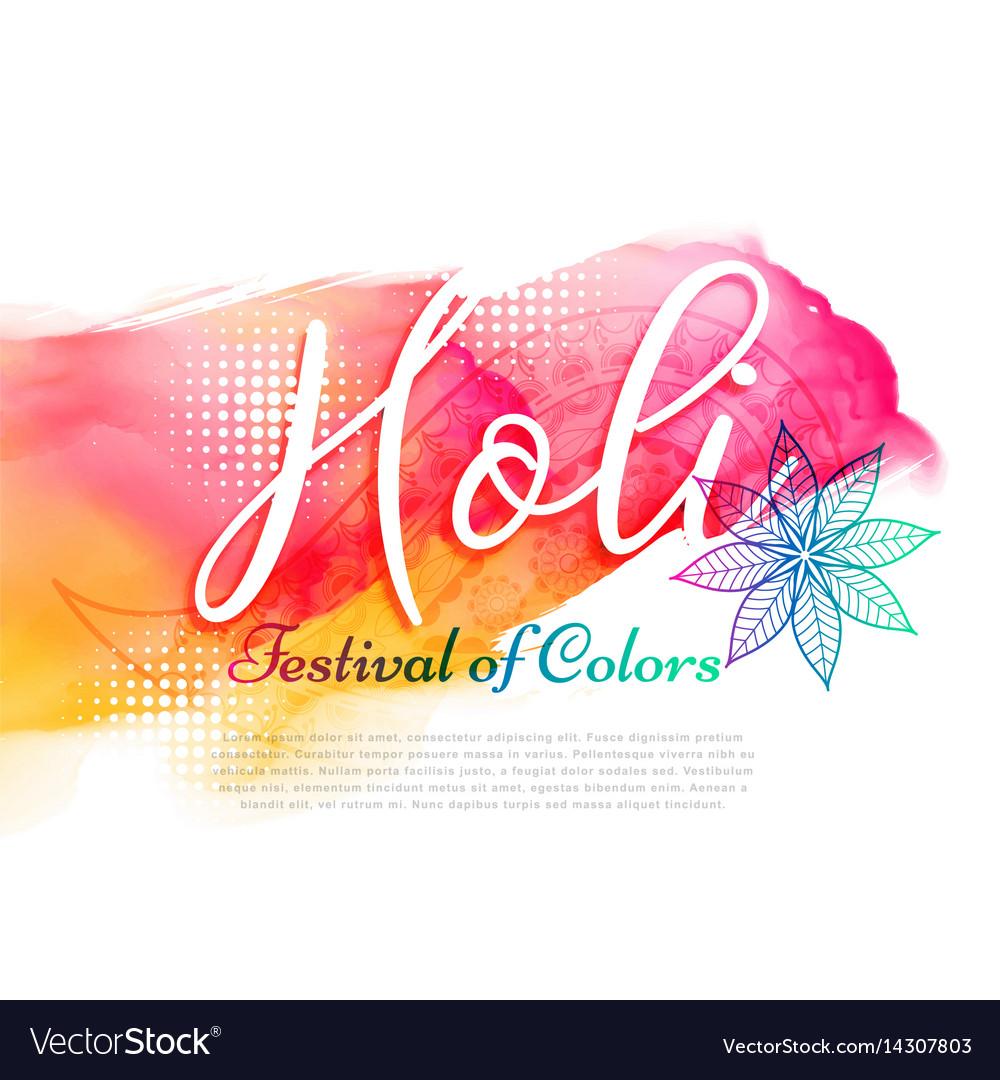 Poster of indian holi festival design vector image
