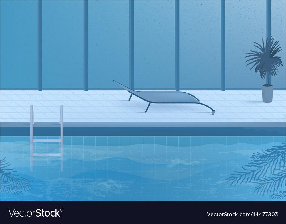 Public swimming pool inside interior