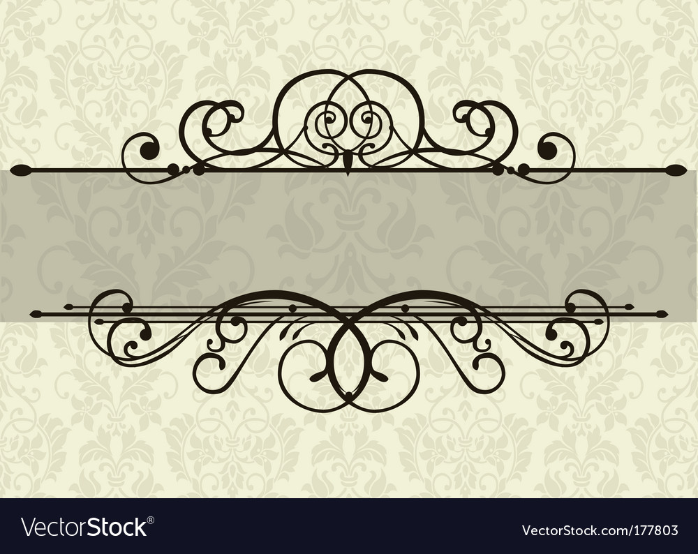 Swirl ornament and background vector image
