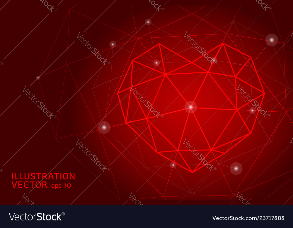 Abstract polygonal heart
