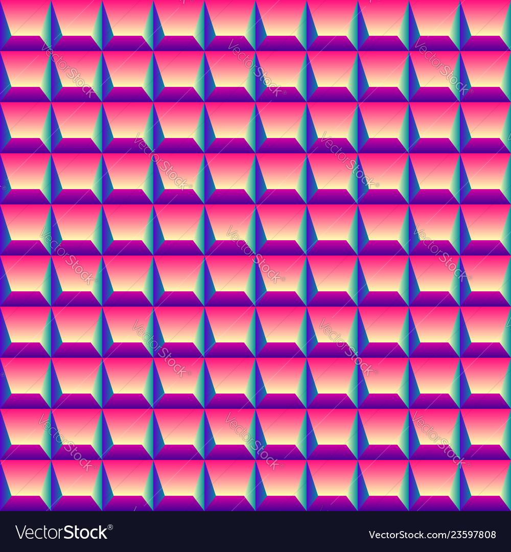 Bright colorful geometric diamond 3d seamless