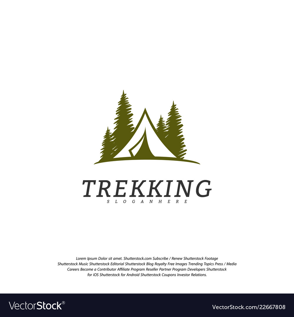 Camping logo template outdoor activity symbol logo