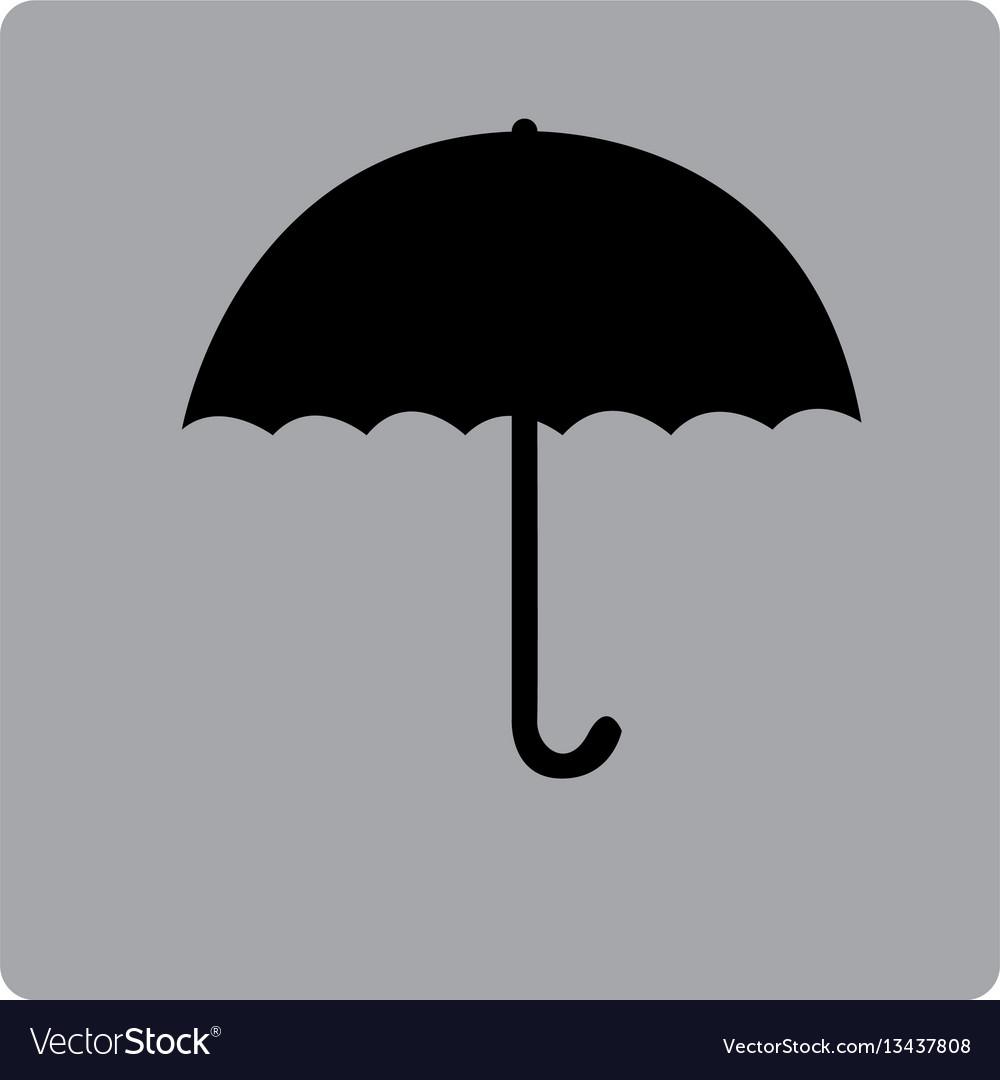 e5c0a457d53f7 Gray square frame with silhouette umbrella Vector Image
