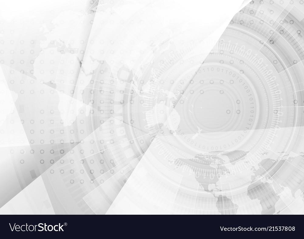 Light grey concept technology background