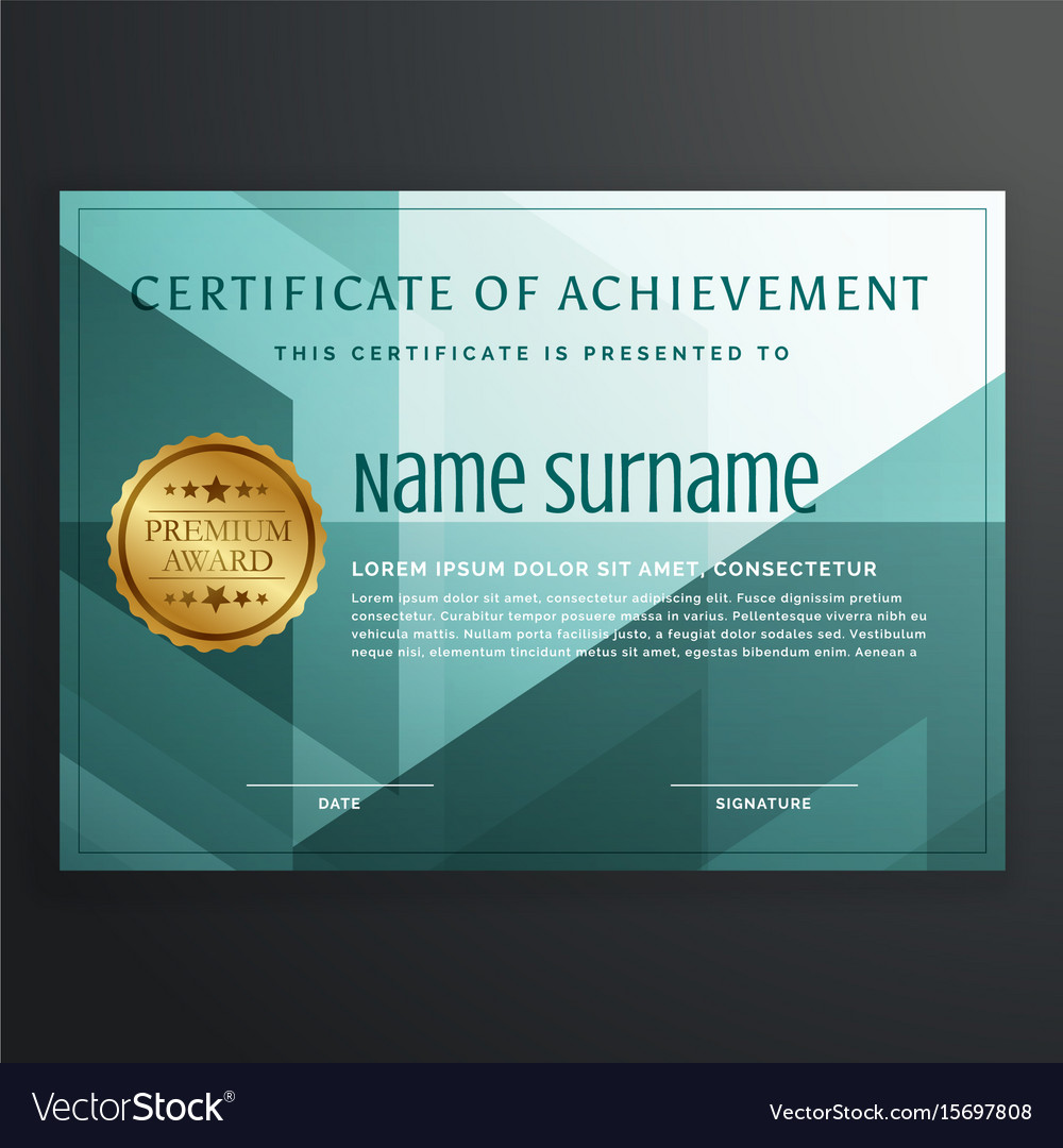 Modern award certificate template design in vector image yelopaper Image collections