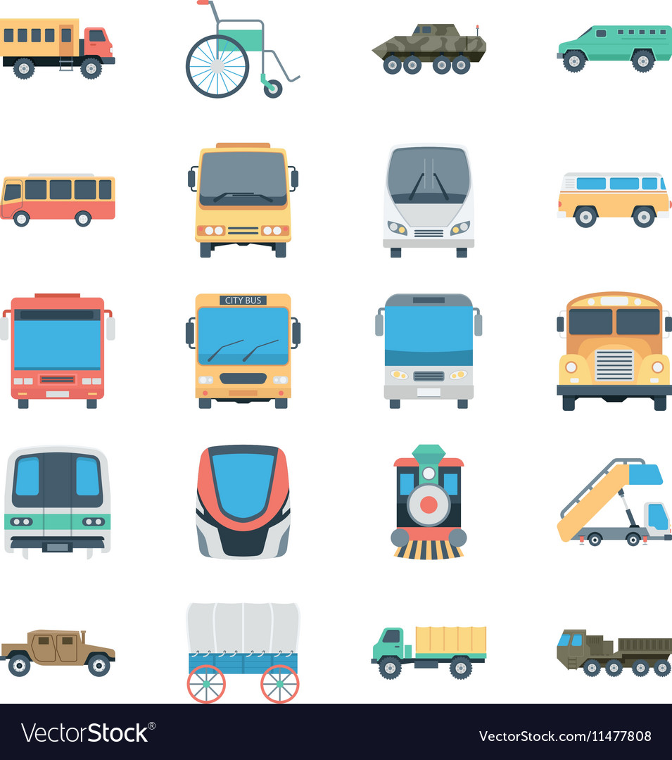 Transports Colored Icons 4 vector image