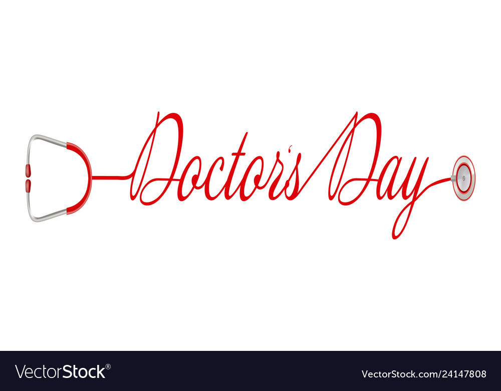 World doctor s day logo with stethoscope in a
