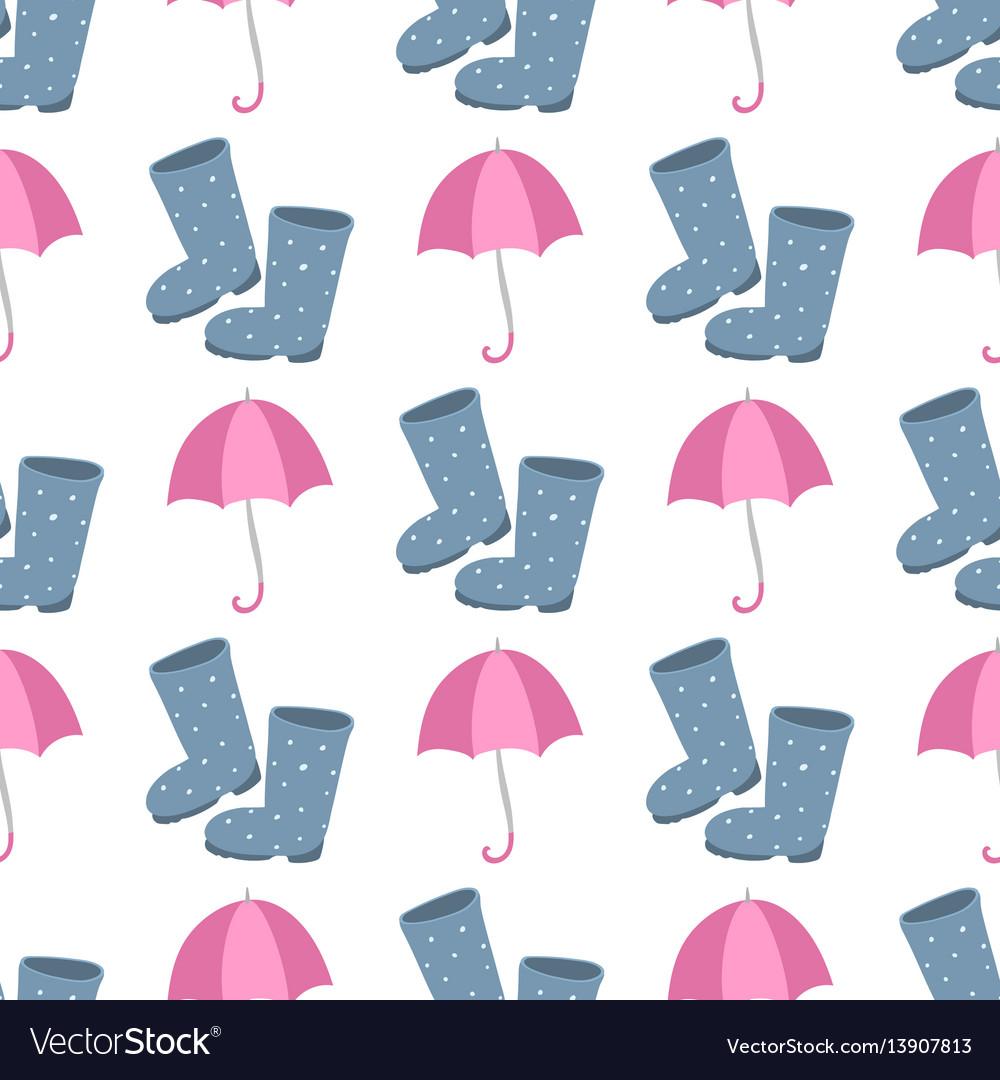 Cute multi colored umbrella rubber boots in flat