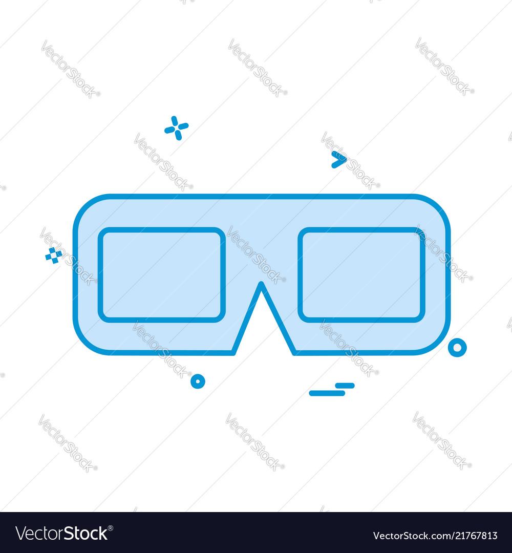 Glasses icon design