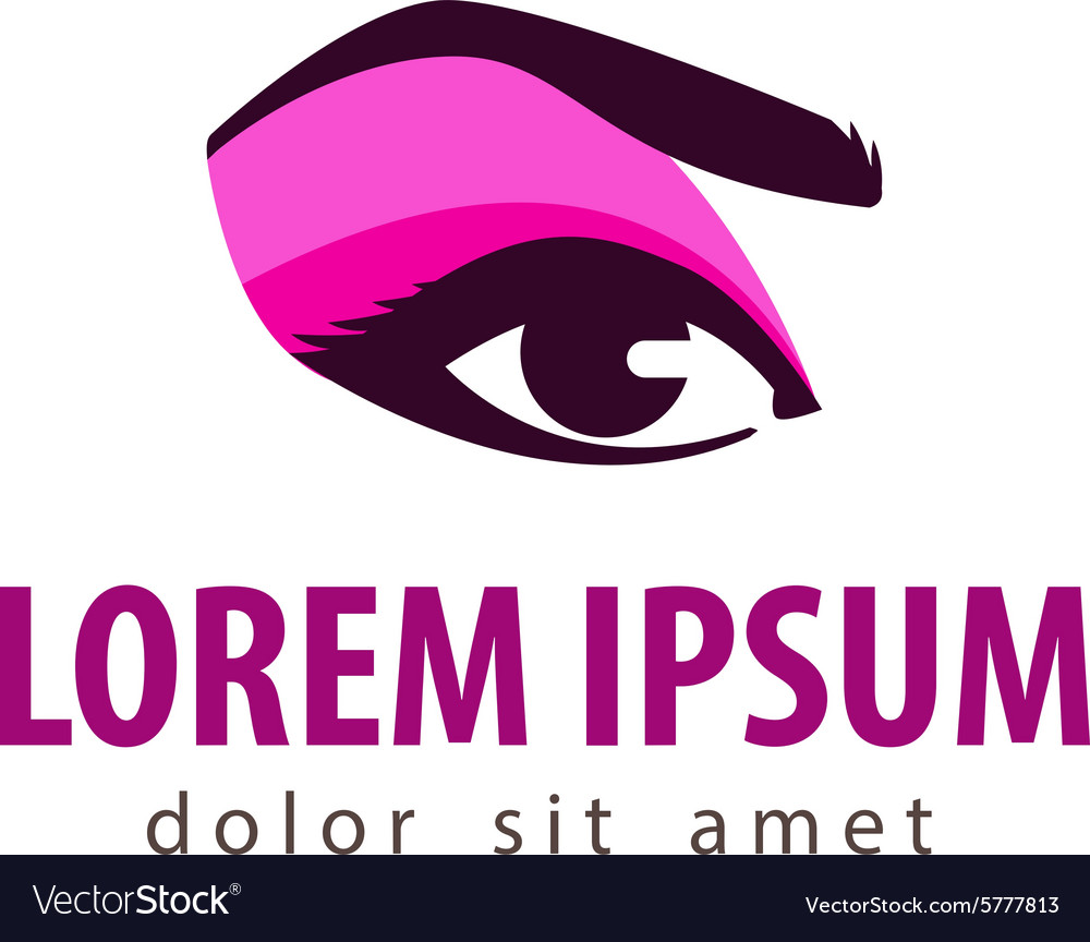 Makeup logo design template cosmetic vector image