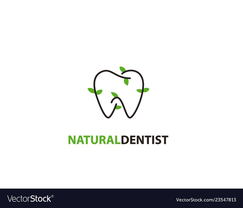 Natural dentist logo