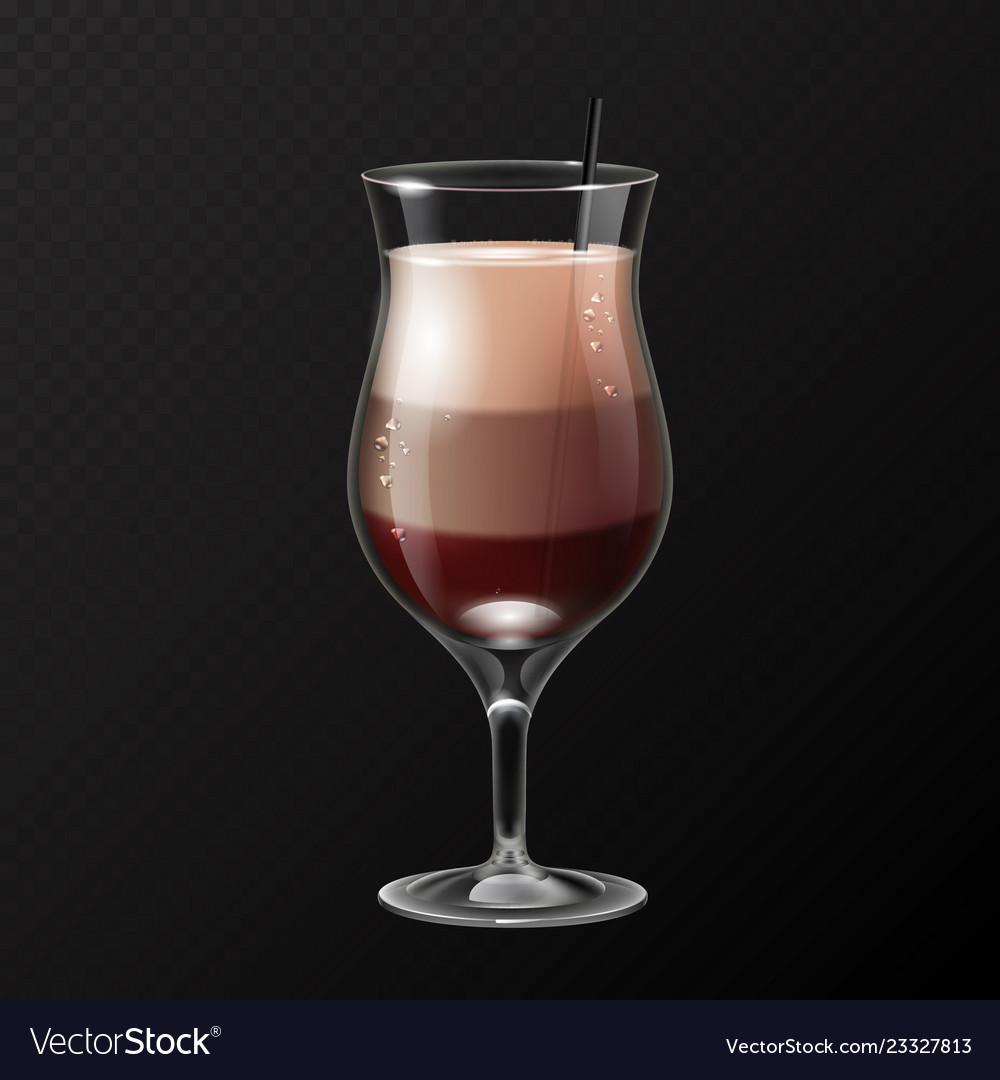 Realistic Cocktail Irish Coffee Glass