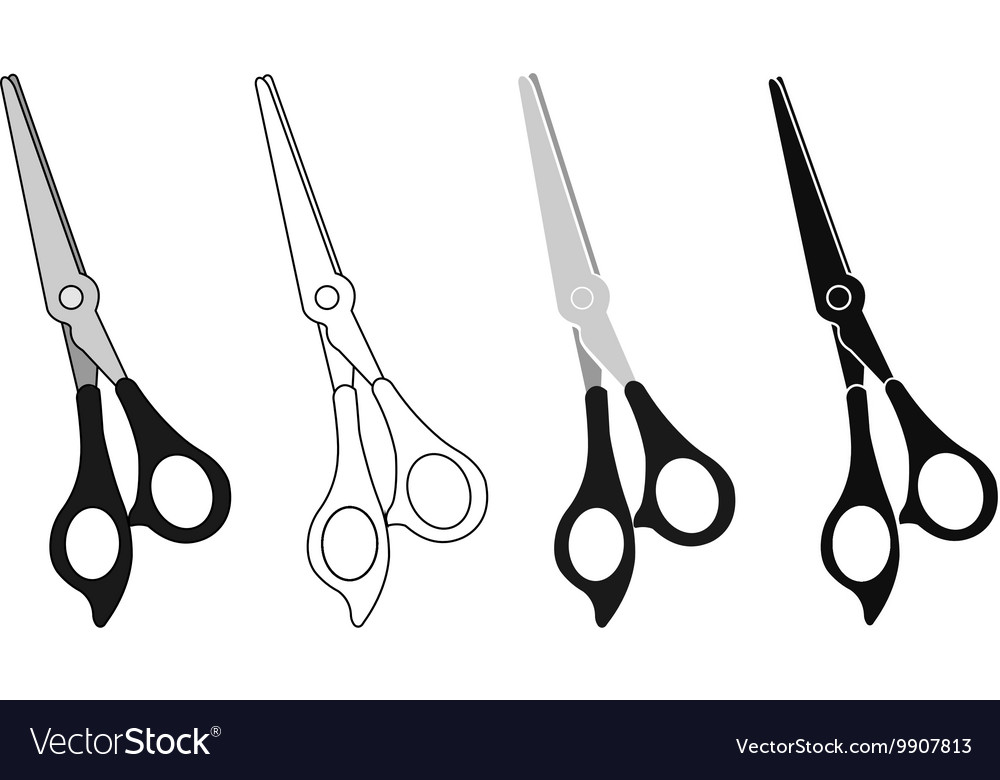 Scissor Icon Set vector image