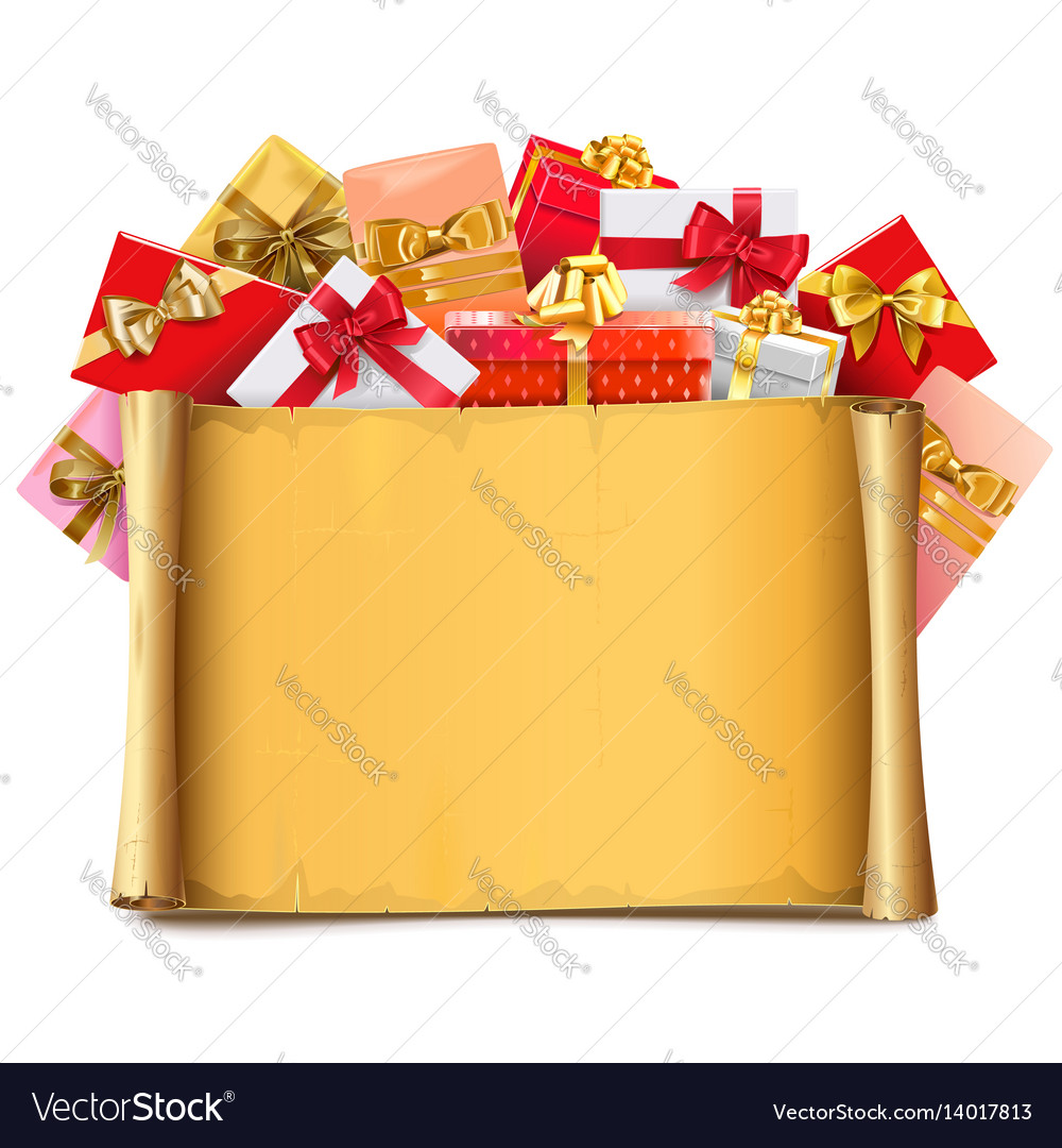 Scroll with gifts