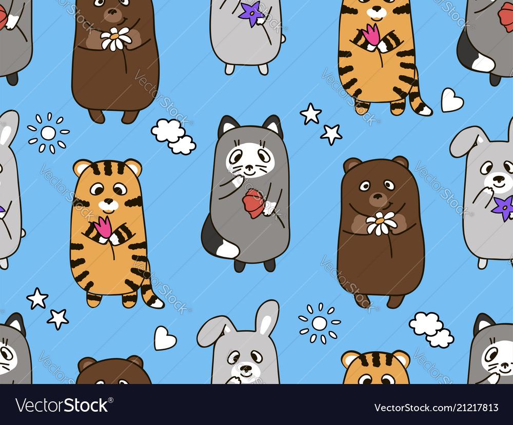 Seamless cartoon children s pattern
