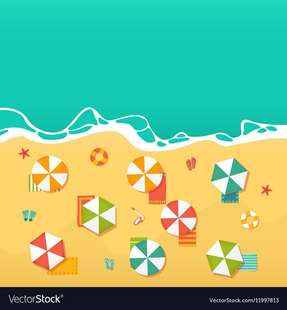 Summer Holidays with beach umbrellas