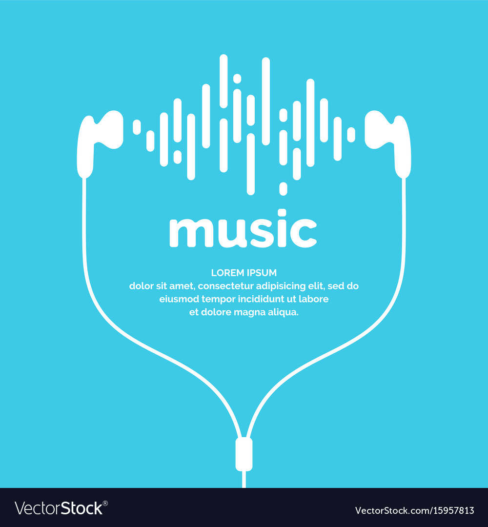 The image of the sound wave vector image