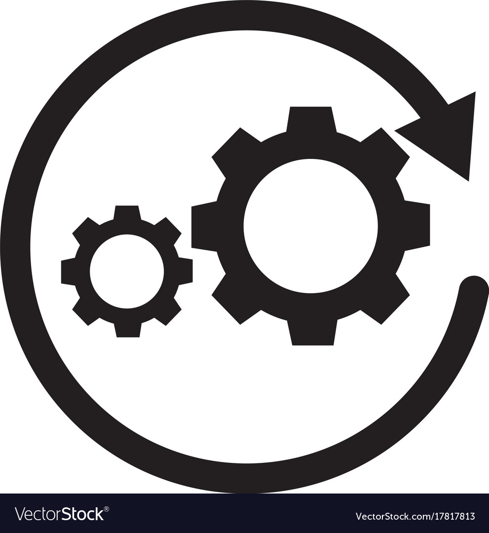 Workflow Icon On White Background Sign Royalty Free Vector