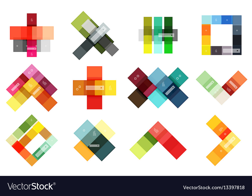 Abstract geometric line infographic templates