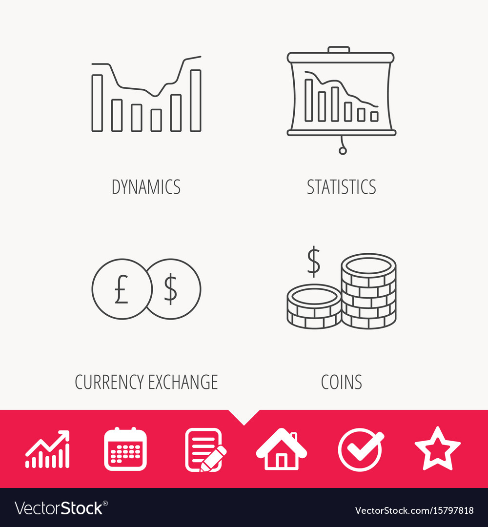Banking cash money and statistics icons