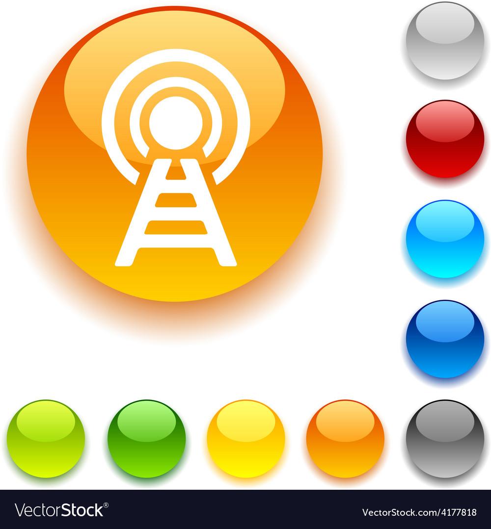 Communication button vector image
