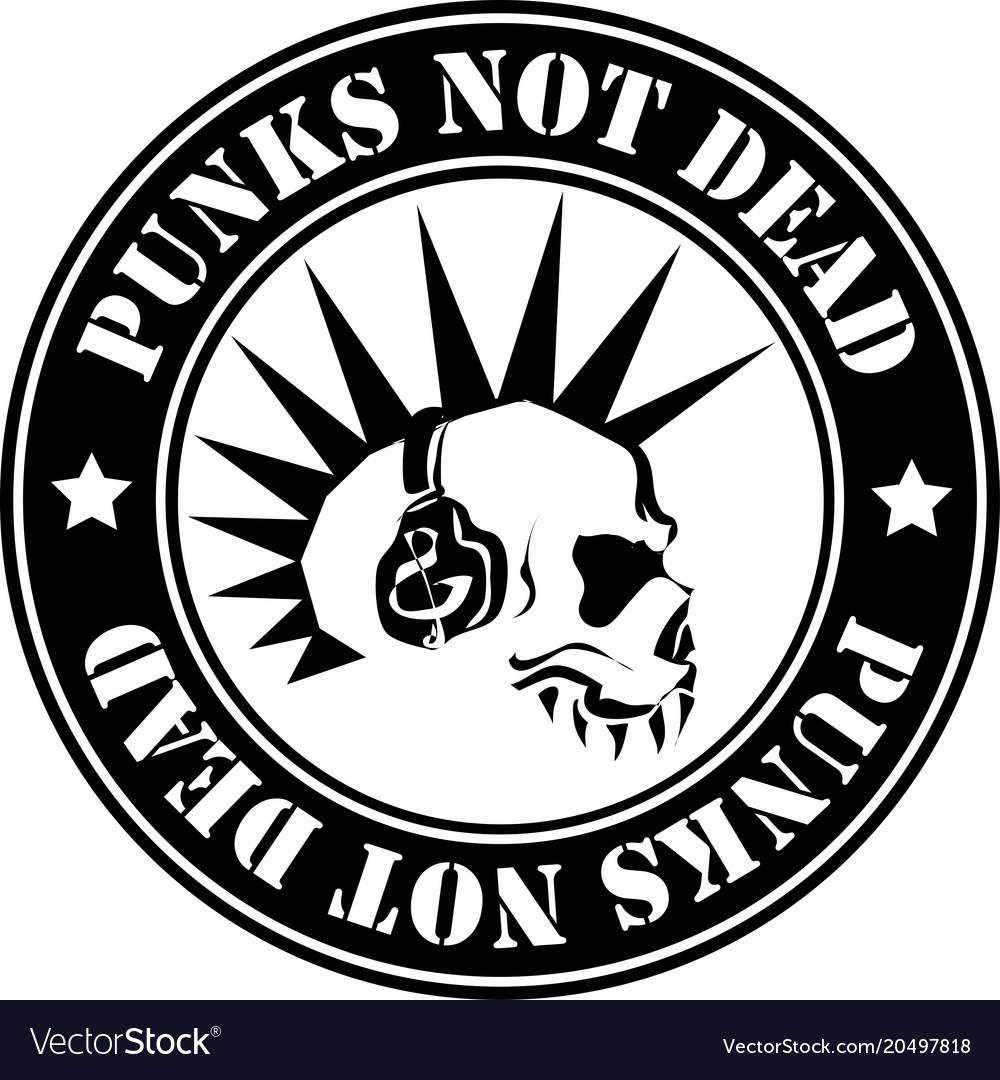 Emblem punk not dead vector image