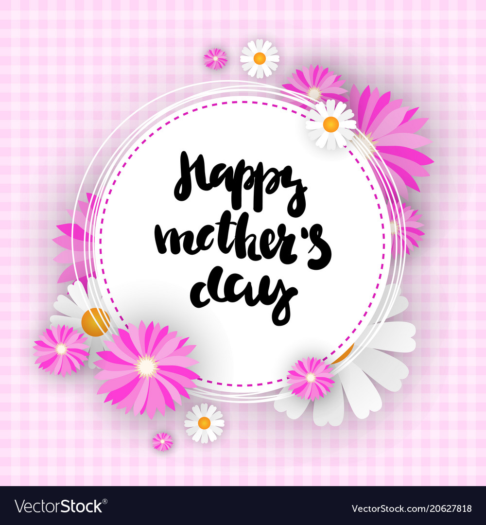 Happy mother day background cute greeting card for happy mother day background cute greeting card for vector image m4hsunfo
