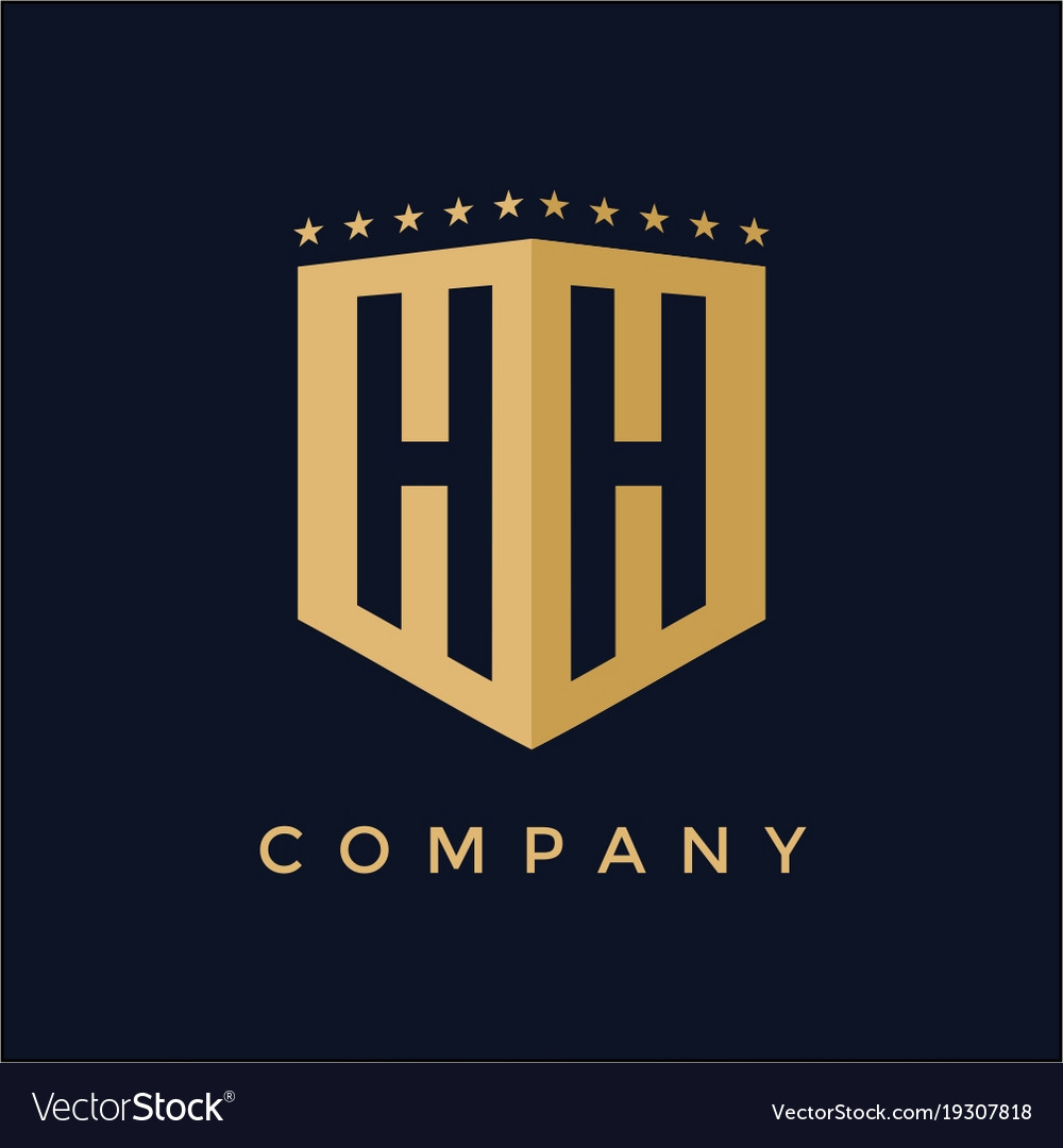 Letter Hh Logo Design Royalty Free Vector Image