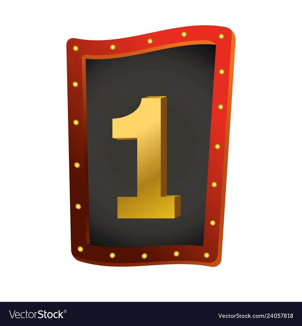 Number one show lights sign
