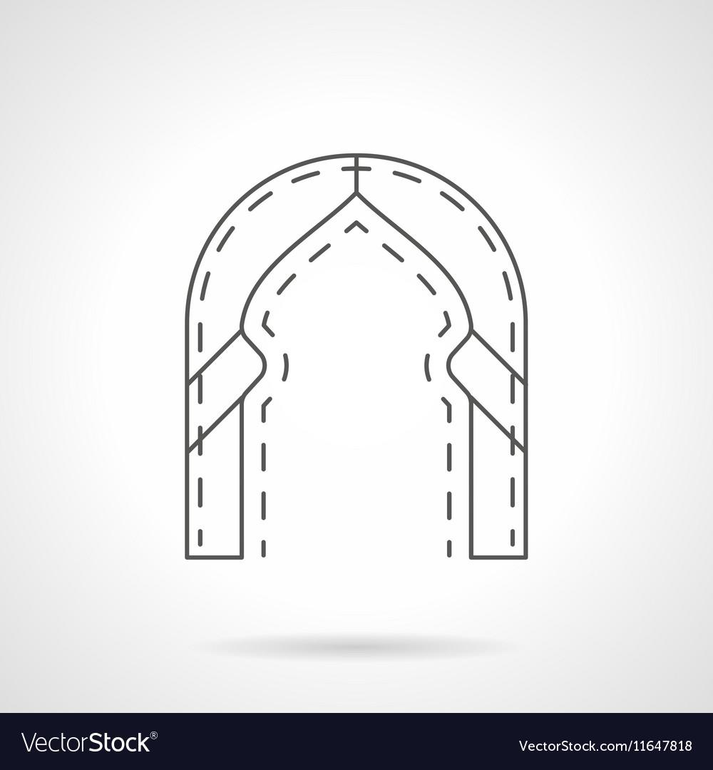 Oriental arch flat line icon
