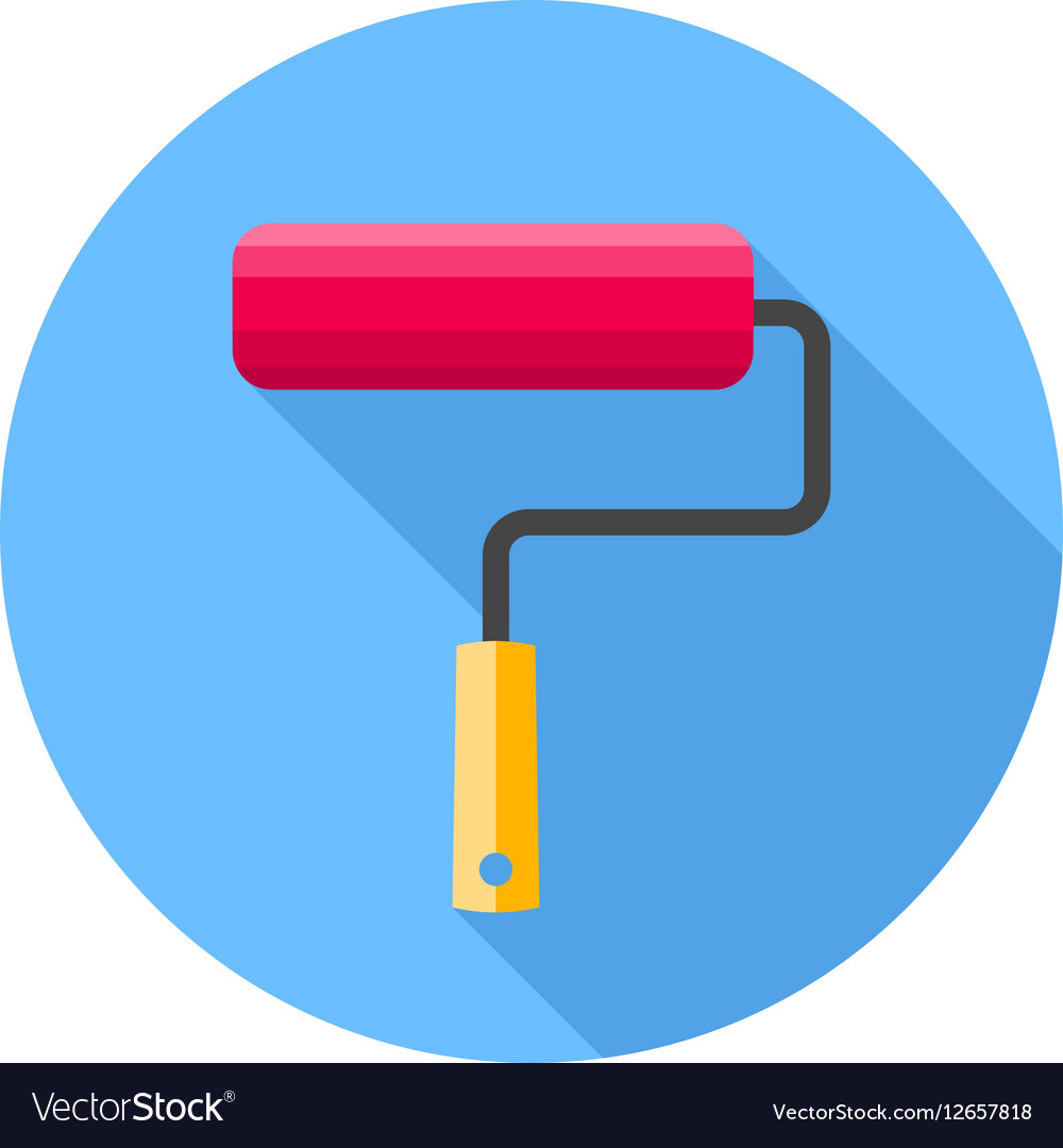 Roller brush Flat Design icon