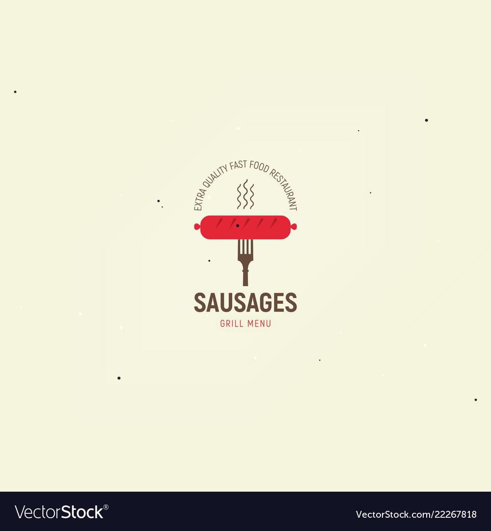 Sausages grill menu