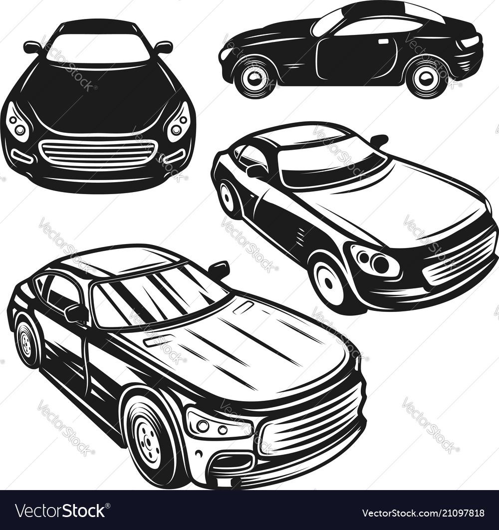 Set of of cars design elements for logo label