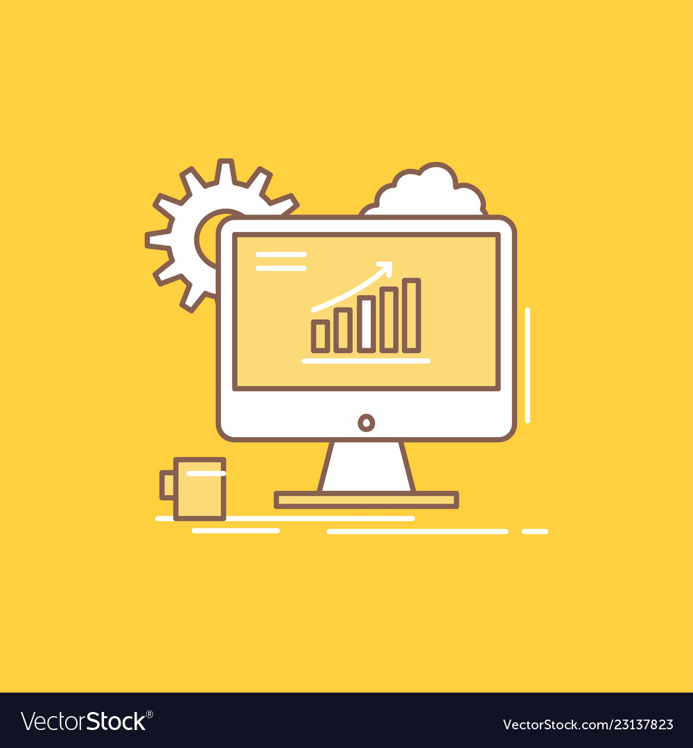 Analytics chart seo web setting flat line filled