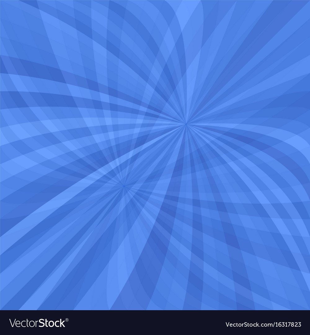 Blue curved ray burst background