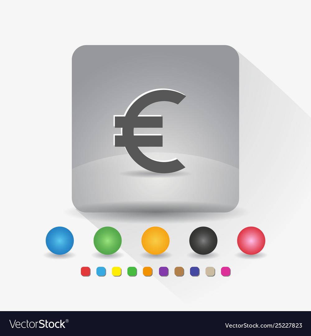 Euro european currency symbol icon sign symbol
