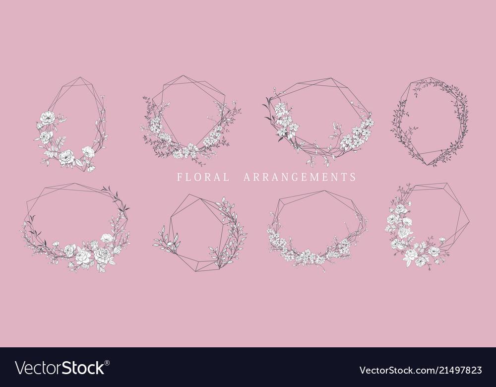Floral bouquet design wedding arrangement